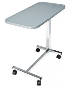 Composite Overbed Table, Non-Tilt Gray $79.00 FREE Shipping from uCan Health || The Composite Overbed Table, Non-Tilt is easy to assemble, easy to clean and impermeable to moisture. The molded composite top is a smart alternative to wood, which over time has the potential to crack or peel., Patient Room,Overbed Tables
