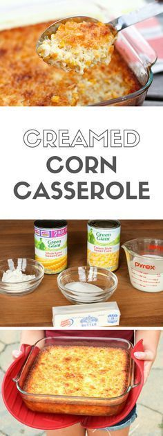 Creamed Corn Casserole -- so good you'll want to scrape the dish completely clean to get every last bit of caramelized goodness from the corners! | via /unsophisticook/ on http://unsophisticook.com