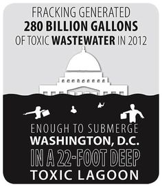 #Fracking generated 280 billion gallons of toxic wastewater in 2012. Enough to submerge Washington DC in a 22-foot deep toxic lagoon.