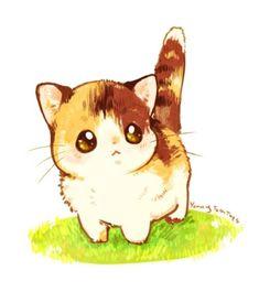 Cute kitty drawing