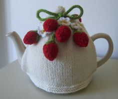 Strawberry Fields Tea Cosy Knitting Crochet pattern by Buzybee | Knitting Patterns | LoveKnitting
