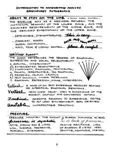 Handwriting Analysis...Pictographs