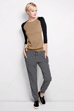 Women's Woven Track Pants - Pattern from Lands' End