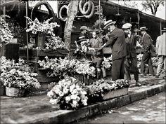 Τα παλιά ανθοπωλεία στο Σύνταγμα. Αθήνα,1928 Athens - flower booths
