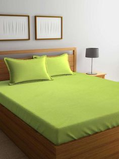 Bed Sheets King Size Cotton id 1771278745 Pista Green Colour 7fa574b2dee4a