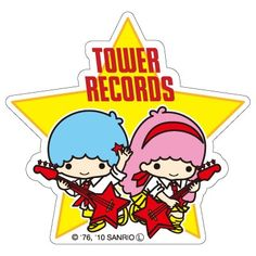【2010】【Tower Record x SANRIO】Sticker ★Little Twin Stars★