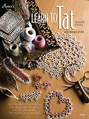 Learn To Tat. Learn the beautiful art of tatting with the step-by-step instructi… Learn To Tat. Learn the beautiful art of tatting with the step-by-step instructions and interactive DVD presented in this book. Needle Tatting Tutorial, Needle Tatting Patterns, Embroidery Patterns, Crochet Patterns, Tutorial Crochet, Tatting Jewelry, Tatting Lace, Tatting Bracelet, Inspiration Tattoos
