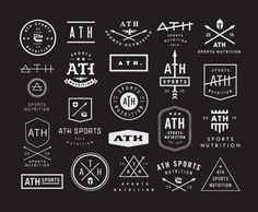 Contemporary Logo Design  Several modern logo concepts designed by Nick Hood for ATH Sports Nutrition, a small company created by athletes to improve athletic peak performance.  via: WE AND THE COLORFacebook // Twitter // Google+ // Pinterest
