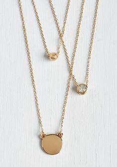Limitless Luxe Necklace - Solid, Boho, Minimal, Festival, Gold, Exclusives, Gold