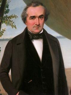 Charles Colson, portrait de Jean Landard, détail - le père de Jean Landard, prénommé également Jean (comme son père avant lui), avait été charpentier de navire avant de devenir constructeur de navires. Lorsqu'il prit sa retraite en 1838, il céda tous ses biens et son entreprise à son fils ainé Jean, à charge pour lui de dédommager ses  six frères et sœurs. Celui-ci dirigea un chantier prospère et, lorsqu'il pose avec son fils en 1856, ce double portrait est l'affirmation de la filiation et… Berges, Terrains, La Rive, Aquitaine, Abraham Lincoln, Bordeaux, Pose, Portrait, Ship