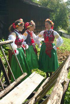 Folk costumes from Wilamowice, Poland.