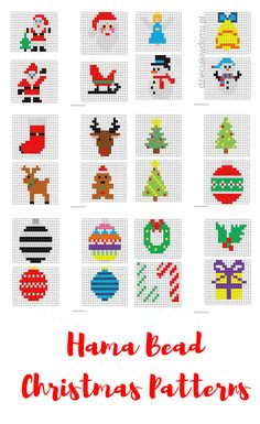 Hama Bead Christmas patterns