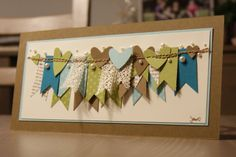 Sewing banner card