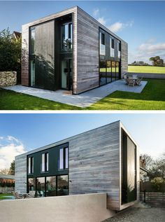 Adrian James Architects have designed the Sandpath House, a 'flat pack' house for a client with a tight budget in Oxford, England.