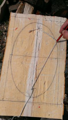 Carved Spoons: Hewing Out A Beech Bowl drawing and oval, David Fisher youtube video inspired.