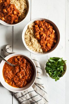 Moroccan Chickpea Tomato Stew | The Full Helping