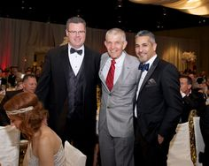 """From left, Rick Doyle, Jim McIngvale and Lonny Soza at the American Heart Association's Montgomery County Heart Ball February 2015 """"The gala crowd of 800 raised more than $1 million making this the most successful Montgomery County Heart Ball in its 20-year history. The silent and live auctions raised $455, 000 thanks in no small part to auctioneer Jim """"Mattress Mack"""" McIngvale, who in a surprise move added 100 Tempur-Pedic mattresses to the live auction offerings."""