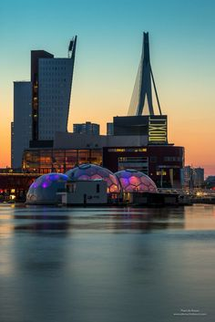 Rijnhaven in Rotterdam, Netherlands. Rotterdam Architecture, Rotterdam Netherlands, Travel Netherlands, La Haye, Kingdom Of The Netherlands, Mekka, Excursion, Voyage Europe, Paradise On Earth