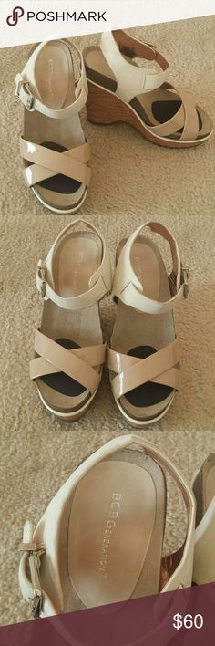 BCBGeneration Shoes Wedge shoes wore once. BCBGeneration Shoes Wedges
