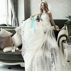 Amazing White/Ivory Vintage Lace Long Wedding Dresses Bridal Gown Custom 4-18+