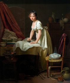 Louis Léopold Boilly: Young woman ironing (ca. 1800)