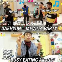 I would expect nothing less from Daehyun hahaha, but I'm like that too XD