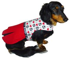 Dog Clothes Sewing Pattern 1639 Cheerleader Dog Dress for the Little Dog in Two Styles $8.25