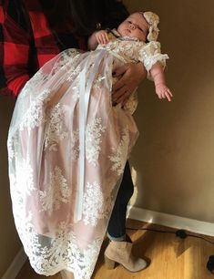 2019 New Baby Infant Dress White Ivory Baby Girls Christening Gown Lace Tulle Long Baptism Dress with Headband Toddler Gown. Baby Christening Dress, Girls Baptism Dress, Baby Boy Baptism Outfit, Baby Girl Party Dresses, Baptism Gown, Cute Baby Girl Outfits, Little Girl Dresses, Baby Dress, Baby Girls