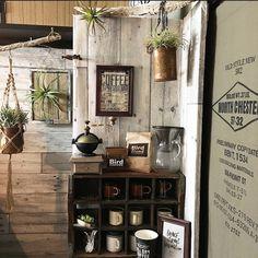 edenさんの、壁紙,古材柄,カフェコーナー,coffee,OLDSTYLENEW502,キッチン,のお部屋写真