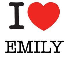 I Heart Emily #love #heart