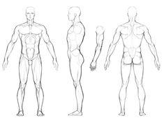 Art Reference. Turnaround Sheet. Muscular Man Drawing Photobucket