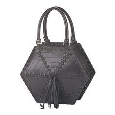 Black Rubber Spider Web Gothic Purse - Demonia Goth Hand Bag - Fetish, Purse #Demonia #HandBag