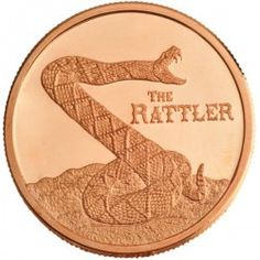 The Rattler 1 Ounce Copper Round