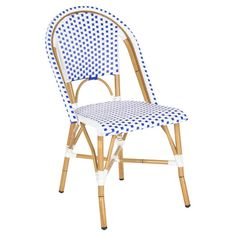 A charming addition to your three-season porch or dining room, this bistro-style side chair showcases a bamboo-inspired frame and woven seat.  ...