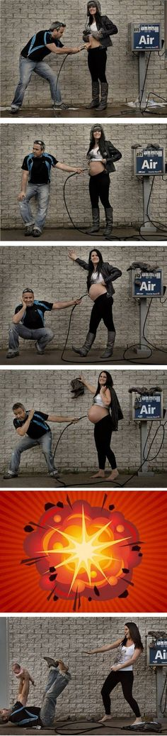 I'm not a photographer, & I'm done having kids but I still thought this was really creative! Air pump bump photos + 6 other creative ideas