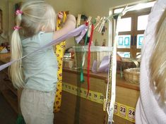 Ordering lengths of ribbons on a washing line