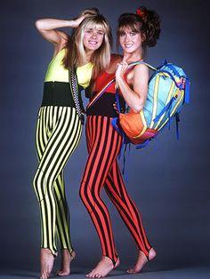 Stirrup pants.. Ug! What were we thinking?! lol