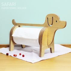Paper dispenser, needing a laser-cut redesign! - Diy Home Crafts Small Wood Projects, Cnc Projects, Woodworking Projects, Projects To Try, Woodworking Skills, Woodworking Wood, Wooden Crafts, Diy And Crafts, Wood Toys