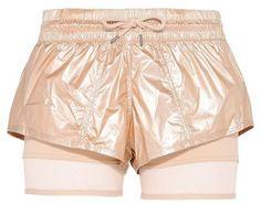 Stella McCartney metallic gold run 2in1 shorts