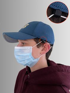 Details about  /Yellow Scrub Hat Cap /& Face Mask with Filter Matching Set