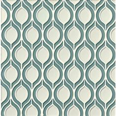 Bedrosians Mallorca Glossy Glass Torre Mosaic Tile in Sail and White Linen