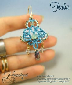 Fable ...simply , needle tatting earrings tutorial by Happyland87 on Etsy