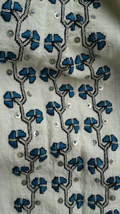 Folk Embroidery, Embroidery Designs, Pakistani Dresses, Costume Design, Folk Art, Anthropologie, Projects To Try, Weaving, Sketches
