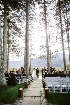 Venue, Onteora Mountain House; Photo: Sara Wight Photography - New York Wedding http://caratsandcake.com/JulieandBen