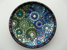 Blue Green Mosaic Bowl