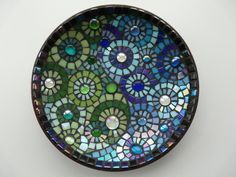 Blue & Green Mosaic Bowl