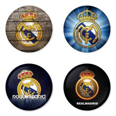 "REAL MADRID Football Club 1.75"" Badges Pinbacks, Mirror, Magnet, Bottle Opener Keychain http://www.amazon.com/gp/product/B00K32JPAG"