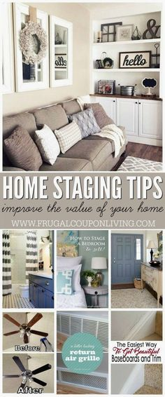Home Staging Tips and Ideas – Improve the Value of Your Home before a sale by. CLICK Image for full details Home Staging Tips and Ideas – Improve the Value of Your Home before a sale by highlighting your home& Unique Home Decor, Cheap Home Decor, Diy Home Decor, Modern Decor, Home Renovation, Home Remodeling, Bedroom Remodeling, Kitchen Remodeling, Home Improvement Projects