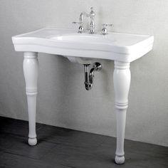 Imperial Vintage Wall Mount Pedestal Center Bathroom Sink Vanity From  Overstock