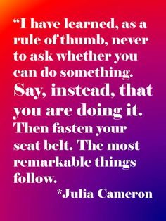 julia cameron rocks!